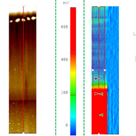Potential imaging of solar cell surface